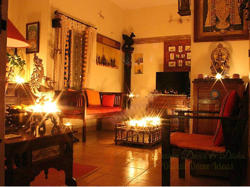 Interior decoration ideas for deepavali mariquita papi for Simple diwali home decorations