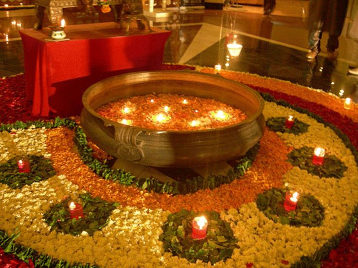 Diwali Flower Bowl Decoration