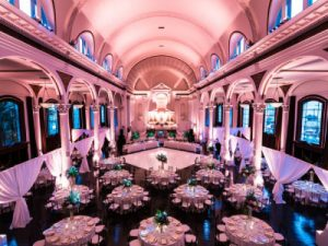 A Beautiful Wedding Hall with Full of Lighting Arrangements