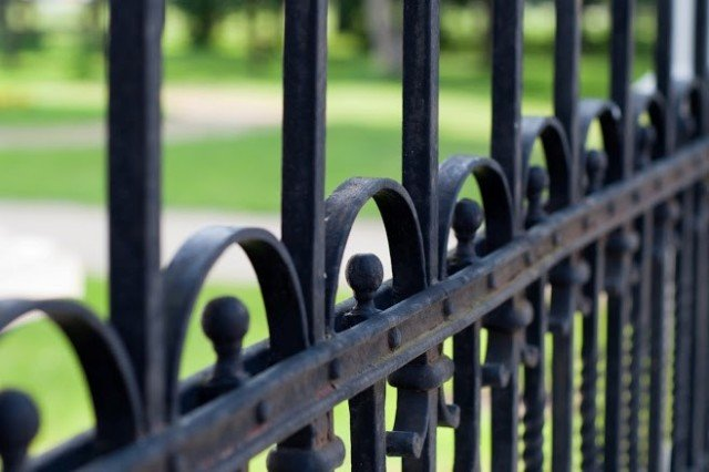 Ornamental Iron Fence Complements For Your Home.