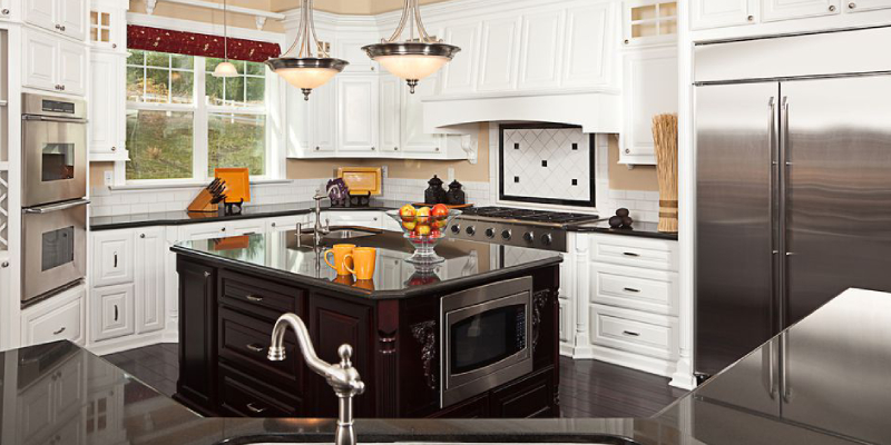 KItchen Interior With Island, Kitchen & Cabinet.